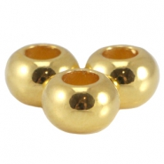 DQ metal flat bead Gold (nickel free)