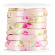 Trendy stitched cord 6x4mm Pink