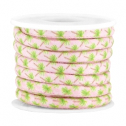 Trendy stitched cord 5x4mm Light rose