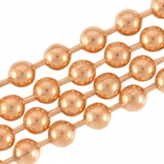 DQ metal ball chain 2.0mm Rose gold (nickel free)