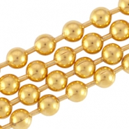 DQ metal ball chain 2.0mm Gold (nickel free)