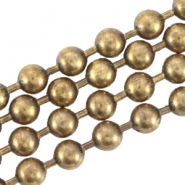 DQ metal ball chain 2.0mm Antique bronze (nickel free)