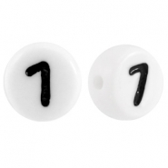 Acrylic letterbeads number 7 White