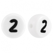 Acrylic letterbeads number 2 White