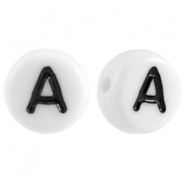Acrylic letterbeads letter A White