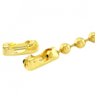 Basic Quality metal end cap/clasp for 3mm ball chain Gold