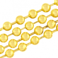 Basic Quality metal ball chain 2mm Gold