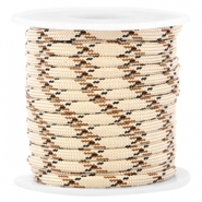 Trendy 4mm flat surfcord Light beige-brown