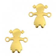 DQ metal connector girl Gold (nickel free)