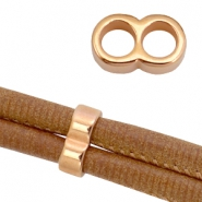 DQ metal findings connector for 5mm cord Rose gold (nickel free)