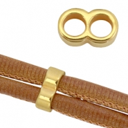 DQ metal findings connector for 5mm cord Gold (nickel free)
