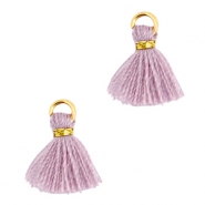 Ibiza style small tassels Gold-Antique violet