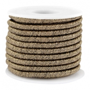 Trendy metallic string Dark gold