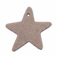 DQ leather charms star Vintage brown