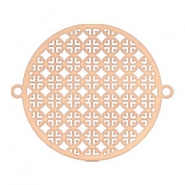 Connector bohemian round 25 mm Rose gold