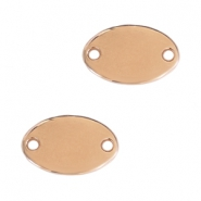 DQ metal charms oval connector Rosegold