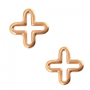 DQ metal charms cross Rosegold
