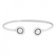 DQ metal findings bracelet with settings SS34 Antique silver (nickel free)