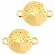 DQ metal charms tree of life connector 23x15mm Gold (nickel free)