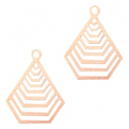 Geometrical shaped Bohemian Pendants with eye 20mm Rose gold