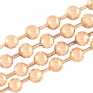 DQ ball chain 2mm DQ Rose Gold durable plating
