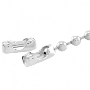 DQ ball chain clasp for 1.2mm chain DQ Silver durable plating