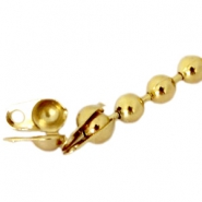 DQ end cap for 1.2mm ball chain DQ Gold plated