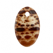 Oval DQ acrylic Polaris pendants Brown-beige