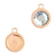 Round DQ metal settings 1 loop for SS20 flatback stone Rose gold (nickel free)