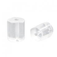 DQ acrylic pentagon tube beads Transparent