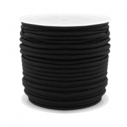 Coloured elastic cord 2.5mm Black