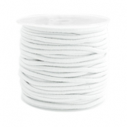 Coloured elastic cord 2.5mm White