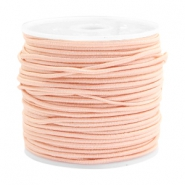 Coloured elastic cord 1.5mm Pastel peach