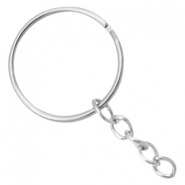 Keychains ring chain 30m Antique silver