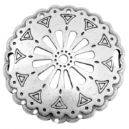 Charms TQ metal connector Mandala 52mm Antique Silver