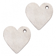 DQ leather charms heart Country Grey