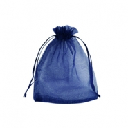Jewellery Organza Bag 7x9cm Navy Blue