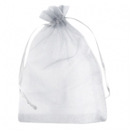 Jewellery Organza Bag 13x18cm Silver Grey