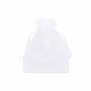 Jewellery Organza Bag 7x9cm White