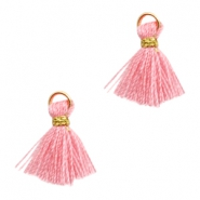 Tassels Ibiza style 1cm Gold-Rose Pink