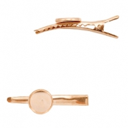 Settings hair clip metal for cabochon 12 mm Rose Gold