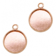 Settings charm metal for cabochon 12mm Rose Gold