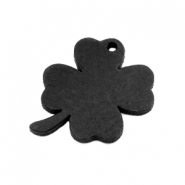 DQ leather charms clover medium Vintage Black