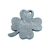 DQ leather charms clover medium Vintage Blue