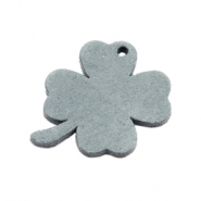 DQ leather charms clover medium Grey