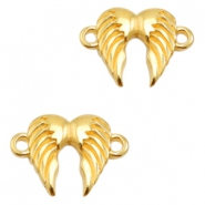 DQ metal charms connector angel wings Gold (Nickel Free)
