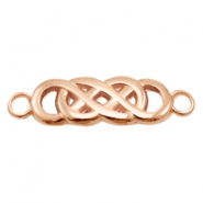 DQ metal charms connector infinity Rose Gold (Nickel Free)