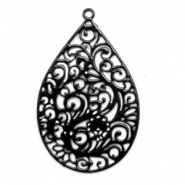 Bohemian charms drop shaped Black