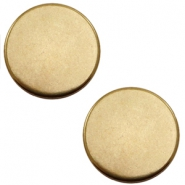 DQ European metal cabochons round 12mm Antique Bronze (Nickel free)