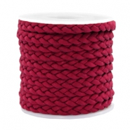 Trendy flat cord braided silk style 5mm Red